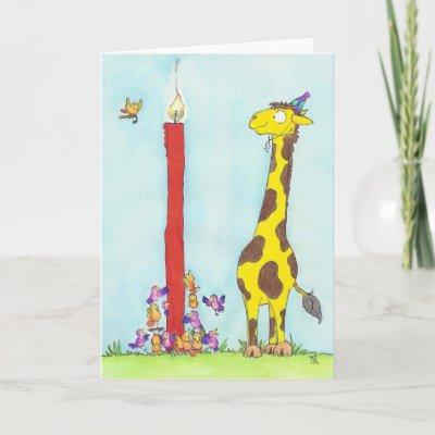 Funny Giraffe Birthday Card Birthday Smooch Card Zazzle