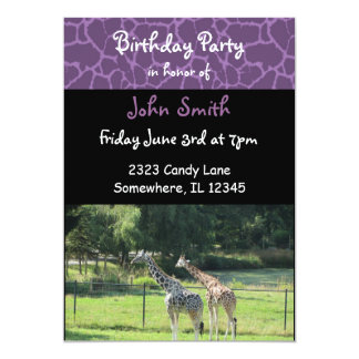 Giraffe Birthday Invitation