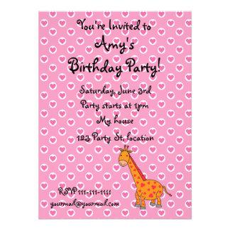 Giraffe birthday invitations