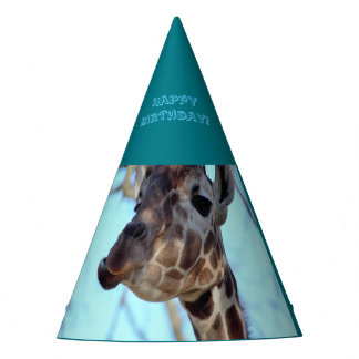 Giraffe Birthday Party Party Hat