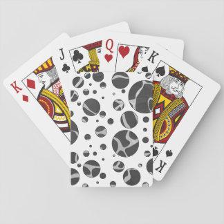 Giraffe Black and Gray Polka Dot Playing Cards