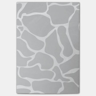Giraffe Black and Light Gray Print Post-it® Notes