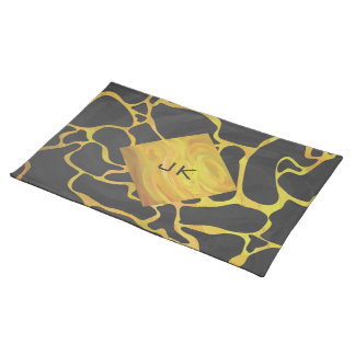 Giraffe Black and Yellow Print Placemat