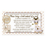Giraffe Book Requests #2 Instead of a Card 100pk Business Card