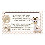 Giraffe Book Requests Instead of a Card 100pk Business Card