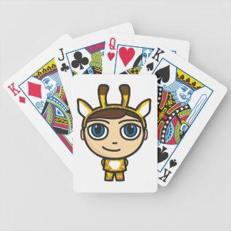 Giraffe Boy Cartoon Character Playing Cards