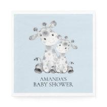 Giraffe Boys Baby Shower Paper Napkins