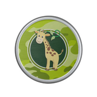 Giraffe; bright green camo, camouflage speaker