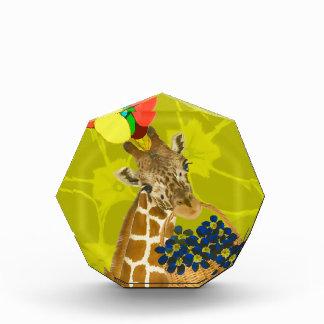 Giraffe brings congratulations. acrylic award