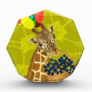 Giraffe brings congratulations. award