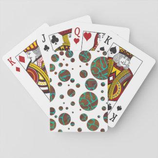 Giraffe Brown and Teal Print Card Deck