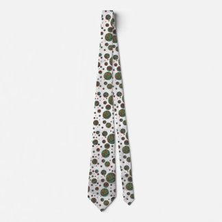 Giraffe Brown and Teal Print Tie