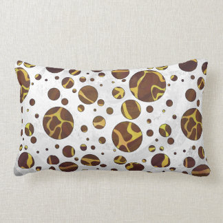 Giraffe Brown and Yellow Print Lumbar Pillow