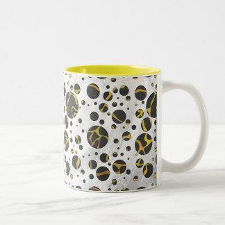Giraffe Brown and Yellow Print Coffee Mug