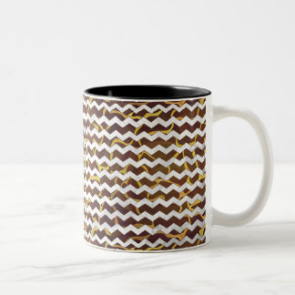 Giraffe Brown and Yellow Print Coffee Mugs
