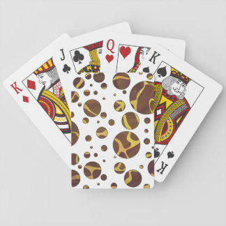Giraffe Brown and Yellow Print Card Decks