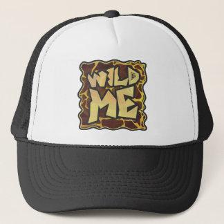 Giraffe Brown and Yellow Print Trucker Hat