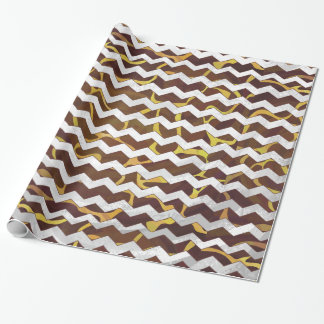Giraffe Brown and Yellow Print Wrapping Paper