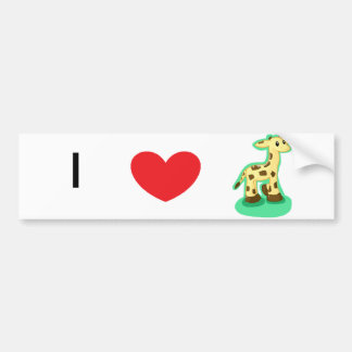 Giraffe Bumper Sticker