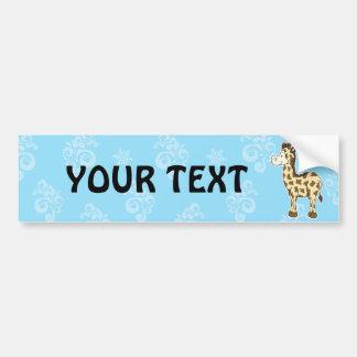 Giraffe bumper sticker car bumper sticker