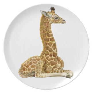 Giraffe Calf 1 Melamine Plate