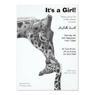 Giraffe & Calf Baby Shower Party Invitation