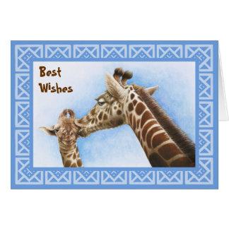 Giraffe & Calf Birthday Card