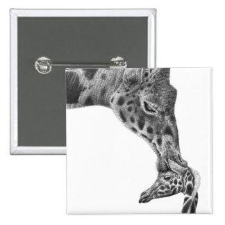 Giraffe & Calf Button