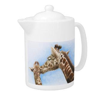 Giraffe & Calf Teapot