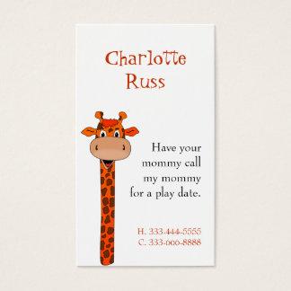 Giraffe Calling Card
