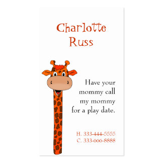 Giraffe Calling Card Business Card