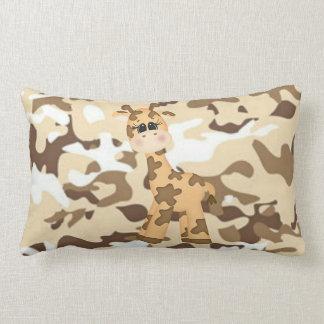 Giraffe Camoflauge Lumbar Pillow