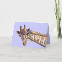 Giraffe Camouflage Greeting and Note Cards