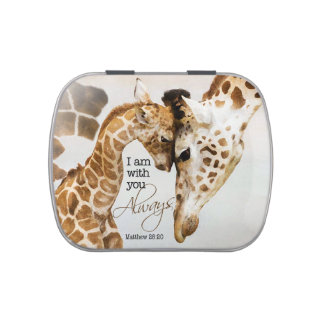 Giraffe candy tin - pill box