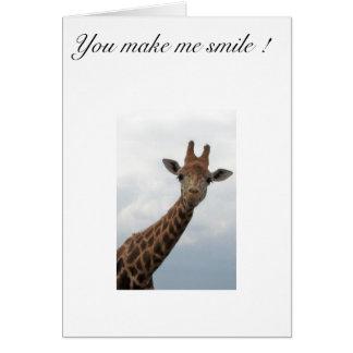 Giraffe Stationery Note Card