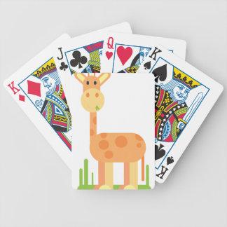 Giraffe Cartoon Bicycle Playing Cards