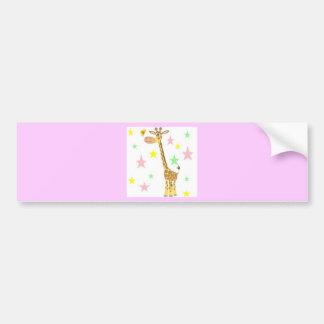giraffe cartoon bumper sticker