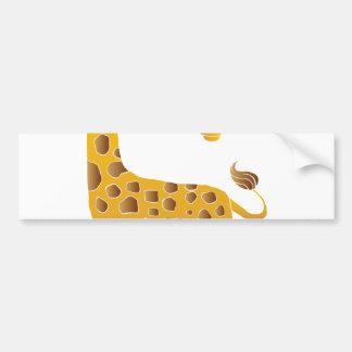 giraffe cartoon. bumper sticker
