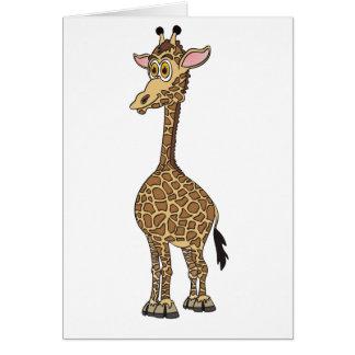 Giraffe Cartoon Card
