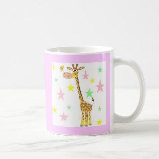 giraffe cartoon coffee mug