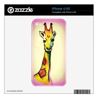 Giraffe Cartoon Decal For The iPhone 4S