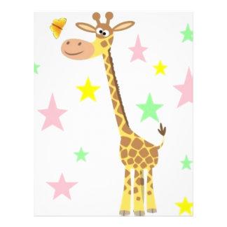 giraffe cartoon flyer