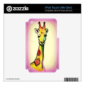 Giraffe Cartoon iPod Touch 4G Decal