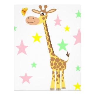 giraffe cartoon letterhead