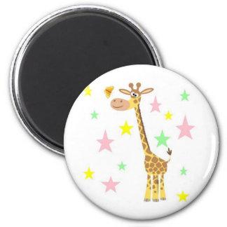 giraffe cartoon magnet