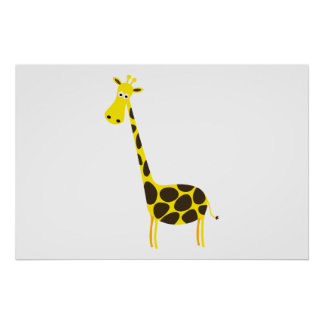 Giraffe cartoon poster