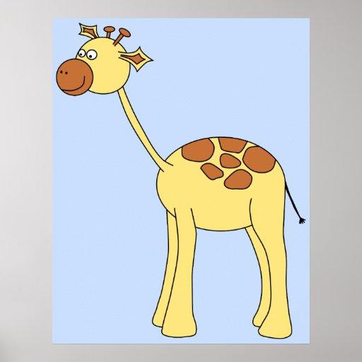 Giraffe Cartoon. Print