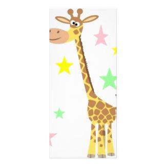 giraffe cartoon rack card