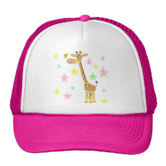 giraffe cartoon trucker hat