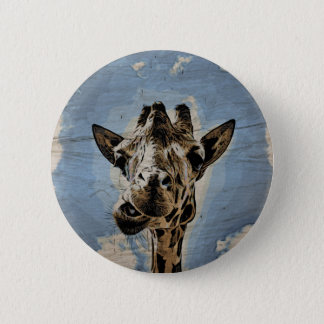 Giraffe chewing button